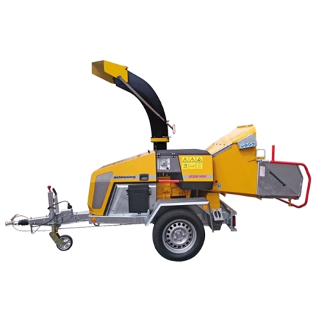 Schliesing 235 EX 270° Wood chipper with diesel engine - rotatable 270° - on axle