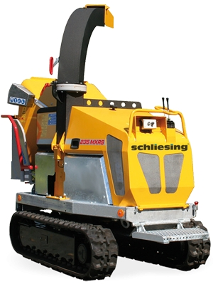 Schliesing 235 MXRS Wood chipper with diesel engine - on crawler chains